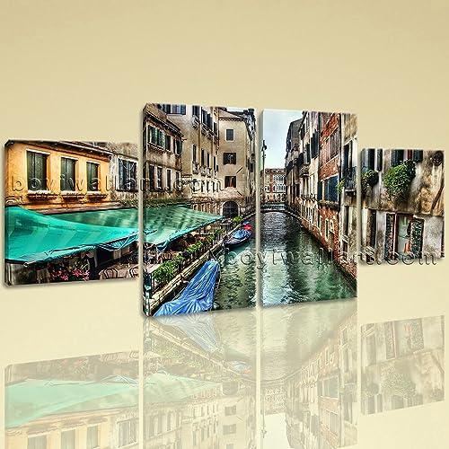 Amazon.com: Large Venice Italy Canvas Art Wall Decor Dining Room ...