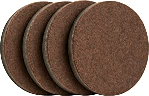 "SuperSliders 4723595N Reusable Furniture Movers for Hardwood Floors- Quickly and Easily Move Items with Felt Floor Protectors, 3-1/2"" Brown (4 Pack)"