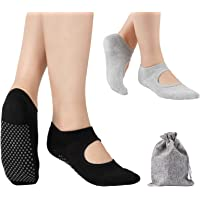 Tusscle Calcetines Yoga, 2Pcs Y 4Pcs Pilates Calcetines Antideslizantes Mujer,Deportivos para Ejercicio Interior,Yoga…