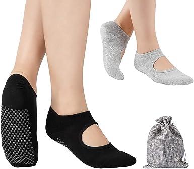 Yoga Chaussettes Femmes Antidérapant Silicone Grip coton Pilates Ballet sport quick dry