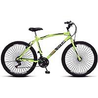 Bicicleta Colli Mtb Cb500 Verde Neon Aro 26 72 Raias 21 Marchas Freio V-Break