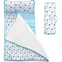 Moonsea Toddler Nap Mat with Removable Pillow and Fleece Minky Blanket, Lightweight and Soft Perfect for Kids Preschool…
