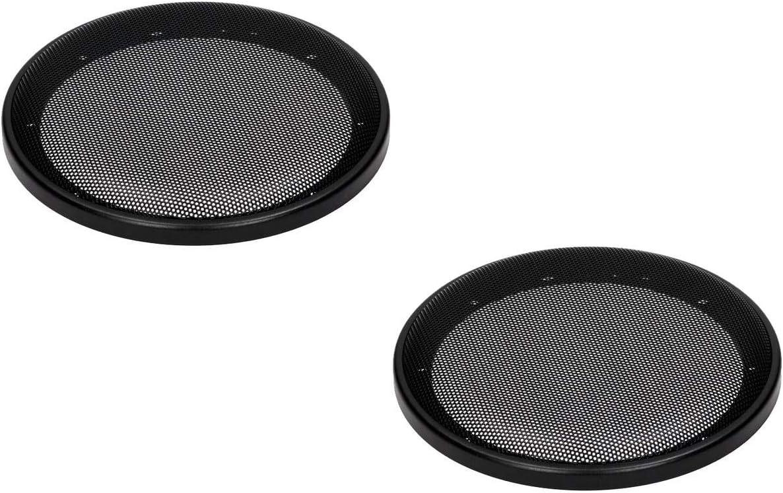 Phonocar 3//010 Pack de 2 Grilles rondes pour haut-parleur 165 mm Noir
