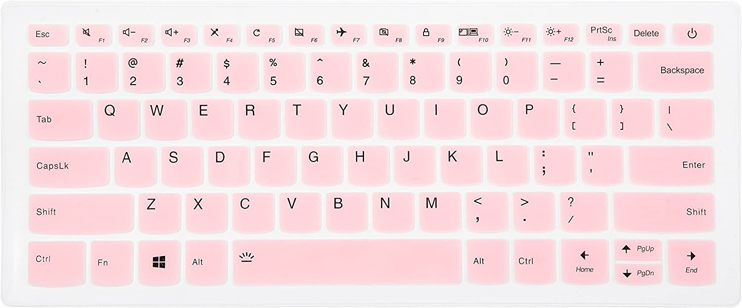 Keyboard Cover Skin Protector for Lenovo ideapad 130S 330S S340 530S S540 14, ideapad S145 14, ideaPad 730S 13, Flex 5 14, Flex 6 14 Laptop - Pink