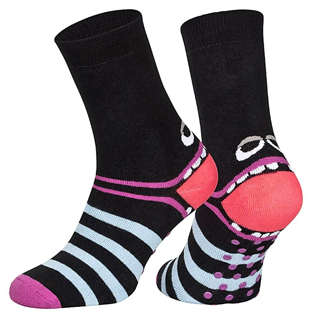 Vollfrotee Vollfrottee 19-21, 23-26, 27-30, 35-38, 39-42 3 oder 6 Paar superweiche ABS-Socken Kinder Stoppersocken -Optimaler Tragekomfort- mit bunten Ringeln
