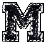 English (M) Letter Character Alphabet Sequin Shine