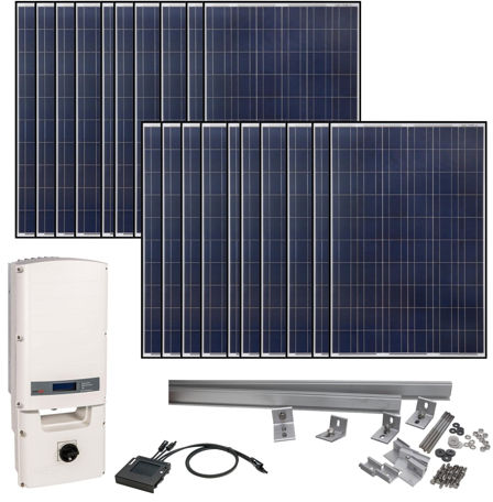 Grape Solar 5830 Watt Grid-Tied Solar Kit