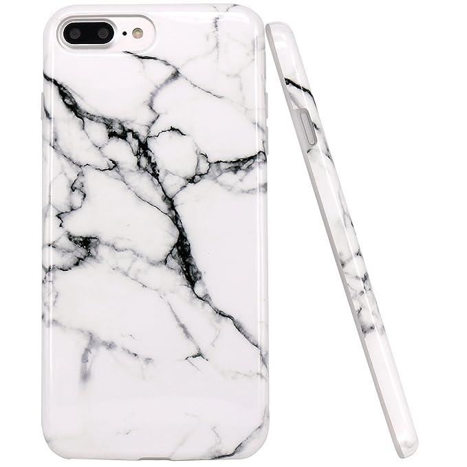 44 opinioni per JIAXIUFEN Acquerello Bianco Marmo Design Cover iPhone 8 Plus, TPU Gel Silicone