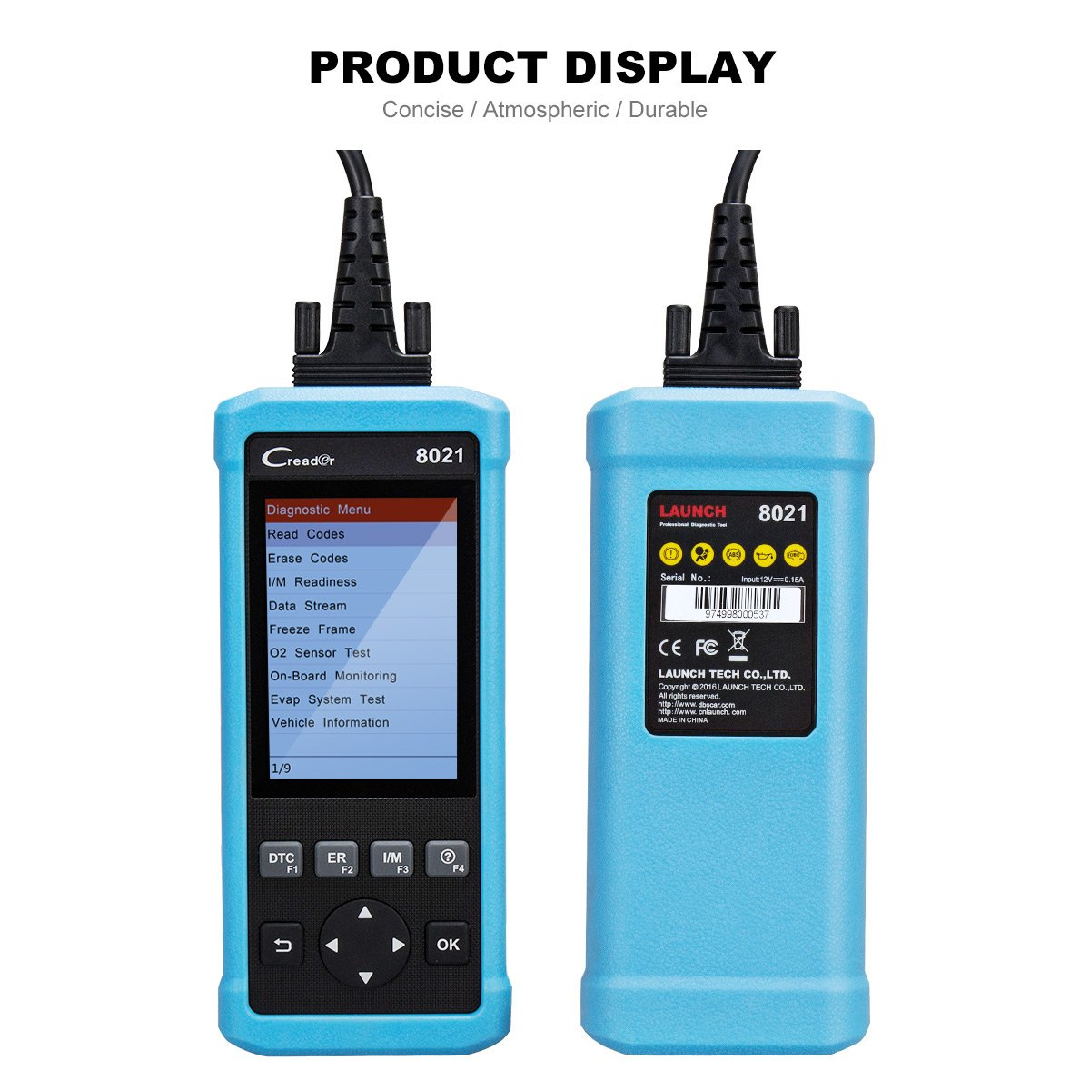 LAUNCH Creader 8021 OBD2 Scanner Code Reader Enhanced OBDII EOBD Automotive Scanner Car Diagnostic Scan Tool for ABS SRS System Supports EPS SAS BMS Oil Reset by Launch (Image #4)