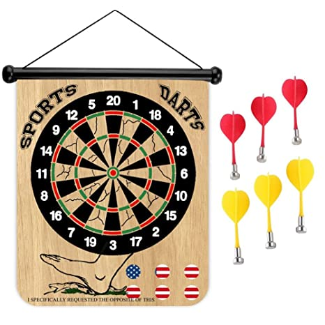Amazon Com Sports Home Don T Tread On Me 8 Magnetic Dart Board