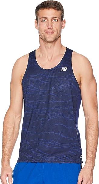 652ea8663d0c3 Amazon.com: New Balance Men's Printed Nb Ice 2E Singlet: Clothing