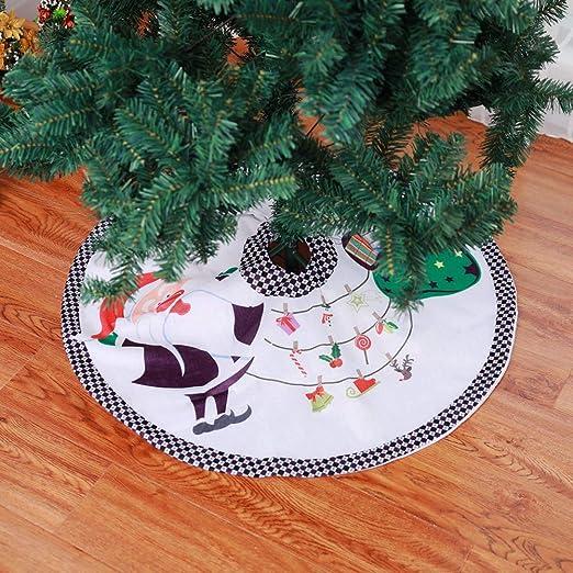 Queta Falda del árbol de Navidad, decoración de la Cubierta del ...