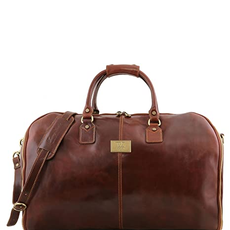 Amazon.com | Tuscany Leather Antigua - Travel leather duffle ...