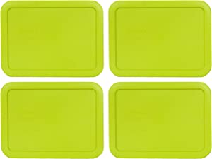 Pyrex 7210-PC 3 Cup Edamame Green Rectangle Plastic Food Storage Lid - 4 Pack