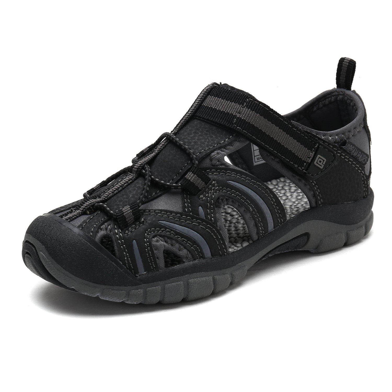 DREAM PAIRS Little Kid 171112-K Black Grey Outdoor Summer Sandals Size 11 M US Little Kid