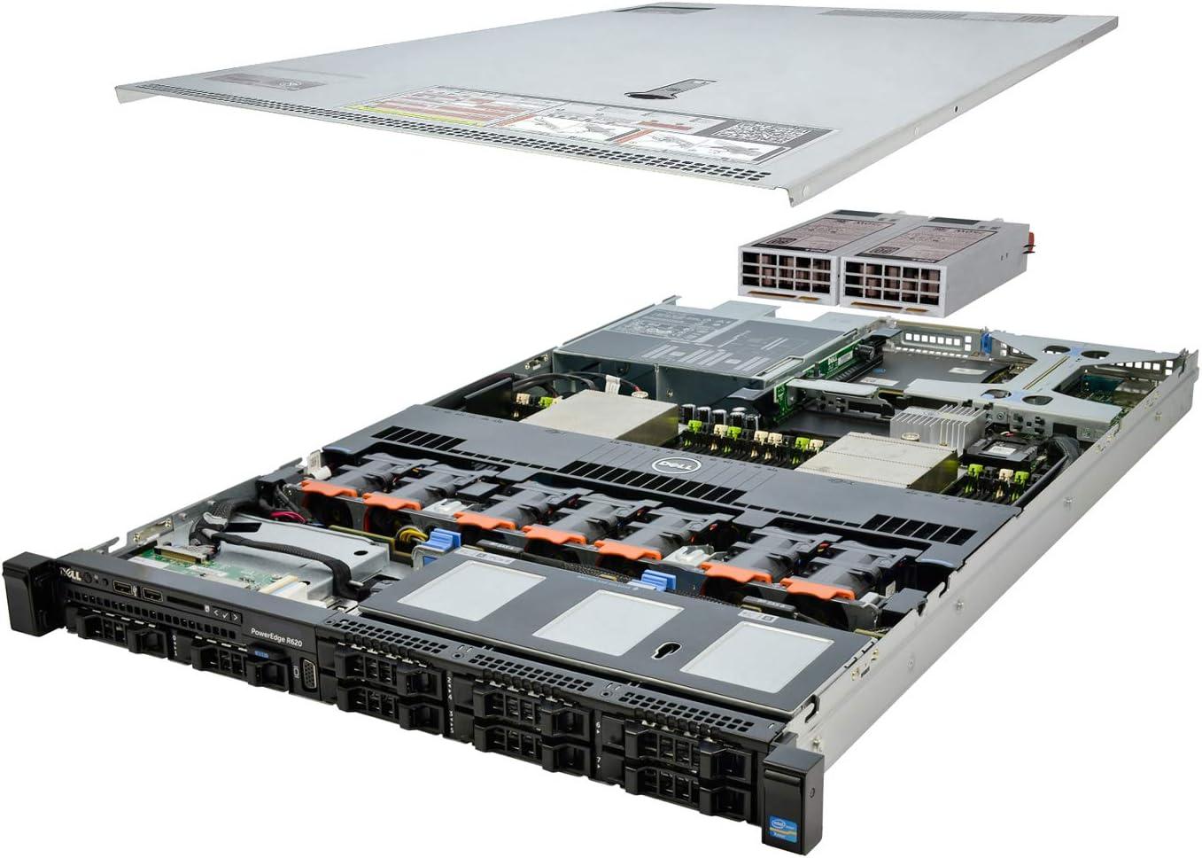 DELL PowerEdge R620 Server 2X E5-2660 2.20Ghz 16-Core 384GB 4X 600GB H310 (Renewed)
