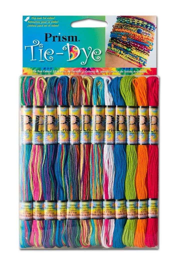 DMC PRISM-TIE Prism Cotton 6 Strand Floss Craft Thread, Tie Dye, 36/Pkg Notions - In Network PRITIEDYE
