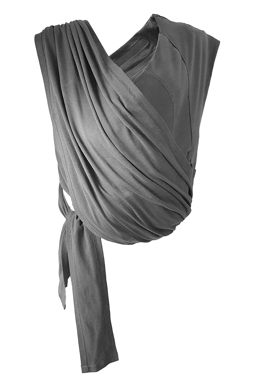 Frabe: Blau in Einheitsgr/ö/ße verstellbarer Schultergurt Tragetuch aus Baumwolle Wallaboo Babytragetuch Balance