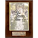 Crown Awards Personalized Photo Plaques - Vertical Slide-in Photo Frame Plaque Gift with Custom Engraving, Holds 5x7 Photo Pr