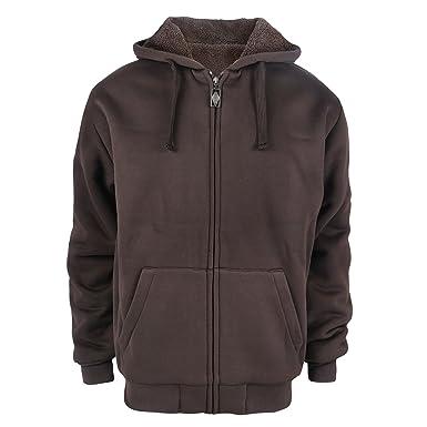 b02fa8d5d8356 Gary Com Heavyweight 1.8 lbs Full-Zip Sherpa Lined Fleece Hoodies for Men  Front Zipper