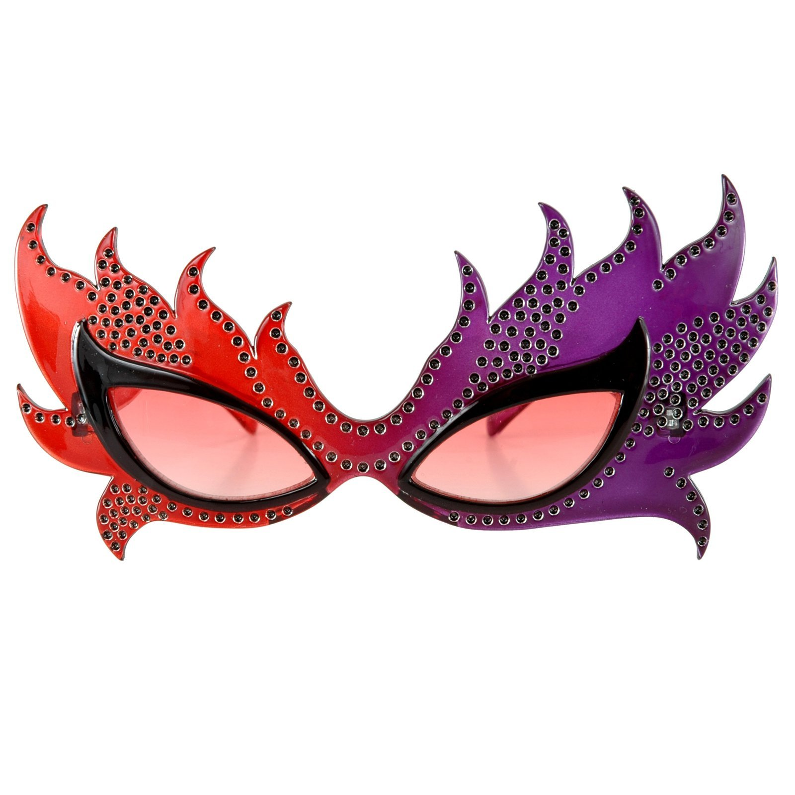 Red & Purple Feather Motiff Eye Mask Glasses by elope