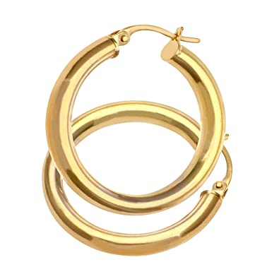 Citerna Women's 9 ct Yellow Gold Hoop Earrings 8UywdAtO