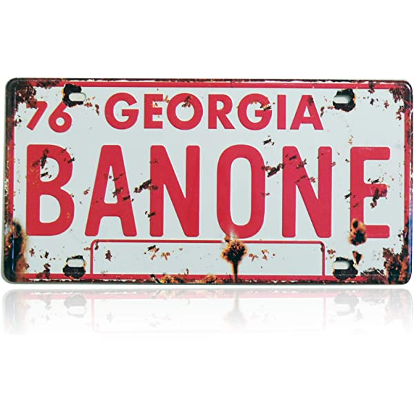 12x6 inch 2 Pieces BAN ONE Bandit Smokey /& The Bandit Retro Embossed License Plate Replica Metal Stamped Number Tag