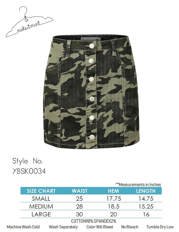 Amazon.com: makeitmint - Mini falda para mujer, diseño de ...