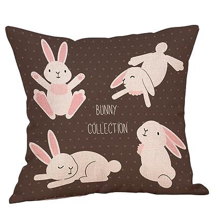 Amazon.com: iCJJL 2019 New Easter Cotton Square Rabbit Throw ...