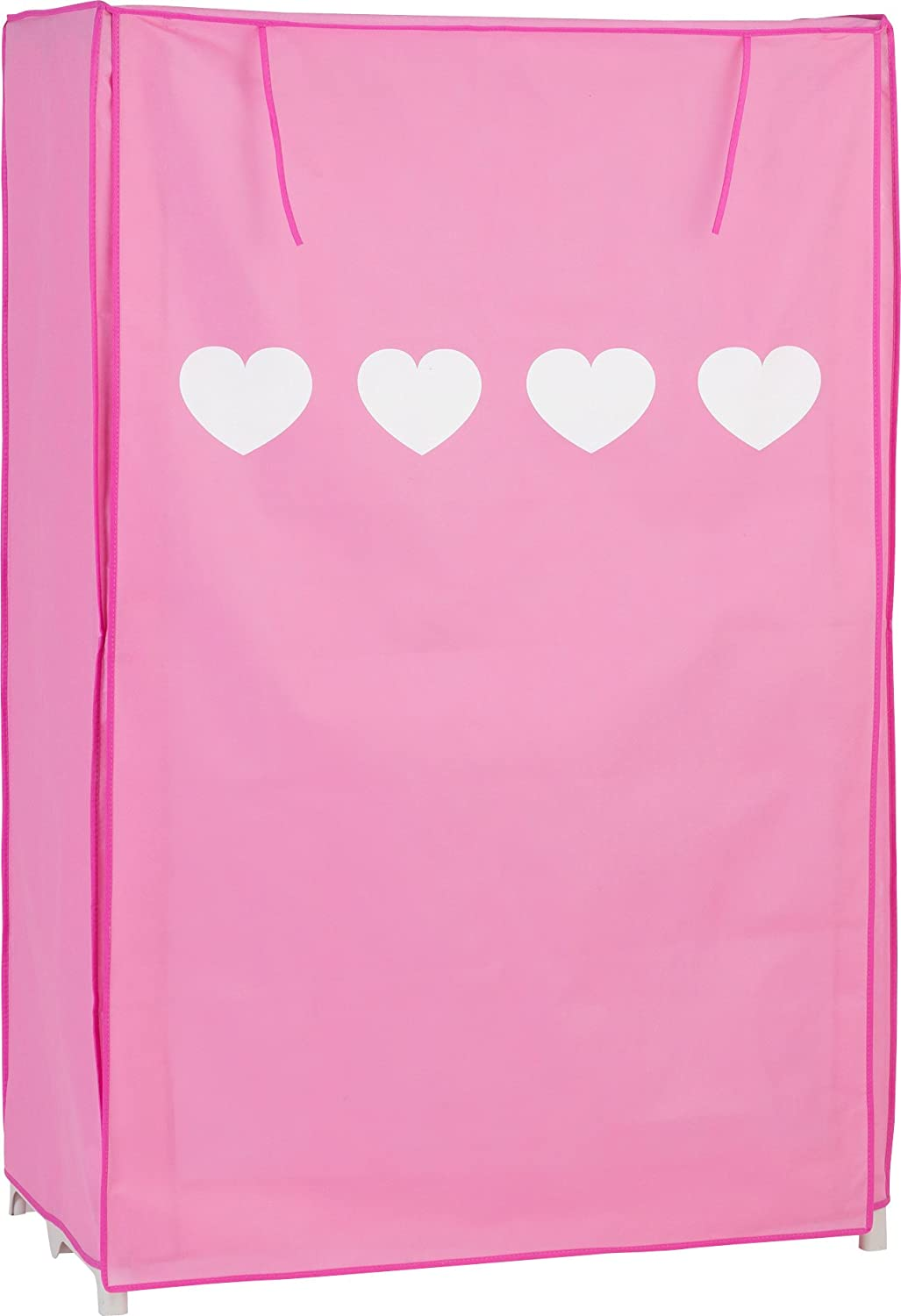 Clearance Cave Kids Canvas Wardrobe Cute Hearts - Pink