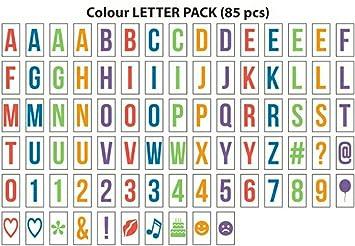 Gadgy ® Letras Colores | Letter Pack Simbolos Numeros para ...