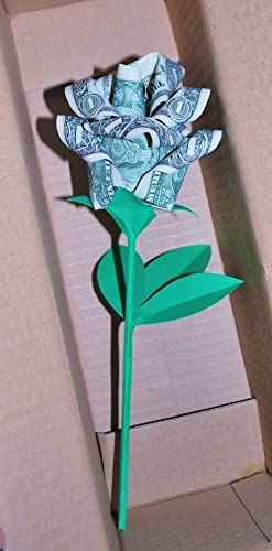 Amazon origami money rose paper flower real dollar bill origami money rose paper flower real dollar bill graduation valentine gift bouquet mightylinksfo