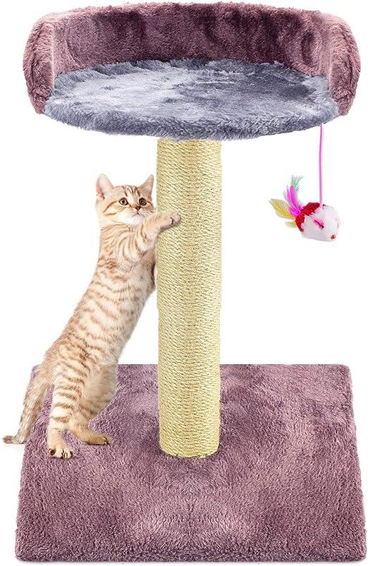 Zubita Rascadores para Gatos, Árbol para Gatos Arañazo Gatos Juguetes de Sisal Natural, Cat Toy Centro de Actividad para Gatitos con Peluche: Amazon.es: Productos para mascotas