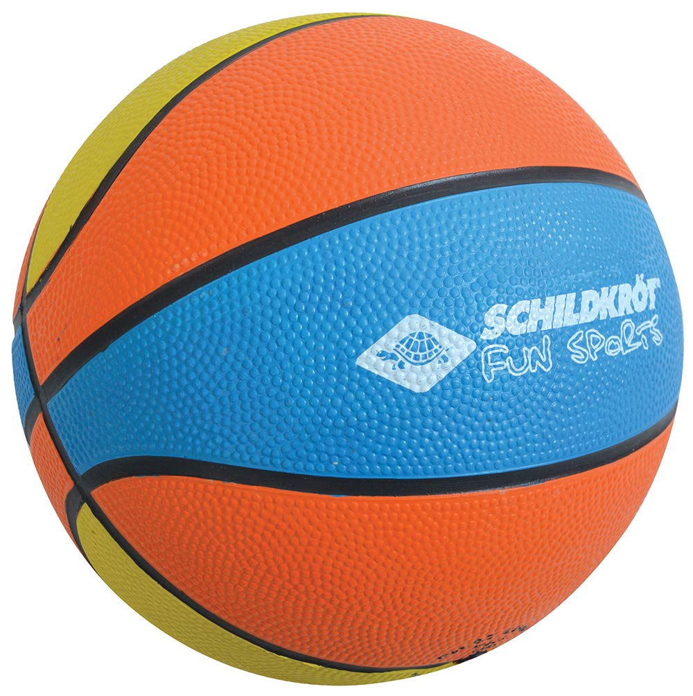 Schildkröt Funsports 2287986 Mini Ballon de Basket Mixte Enfant, Orange/Bleu/Jaune, Taille 2