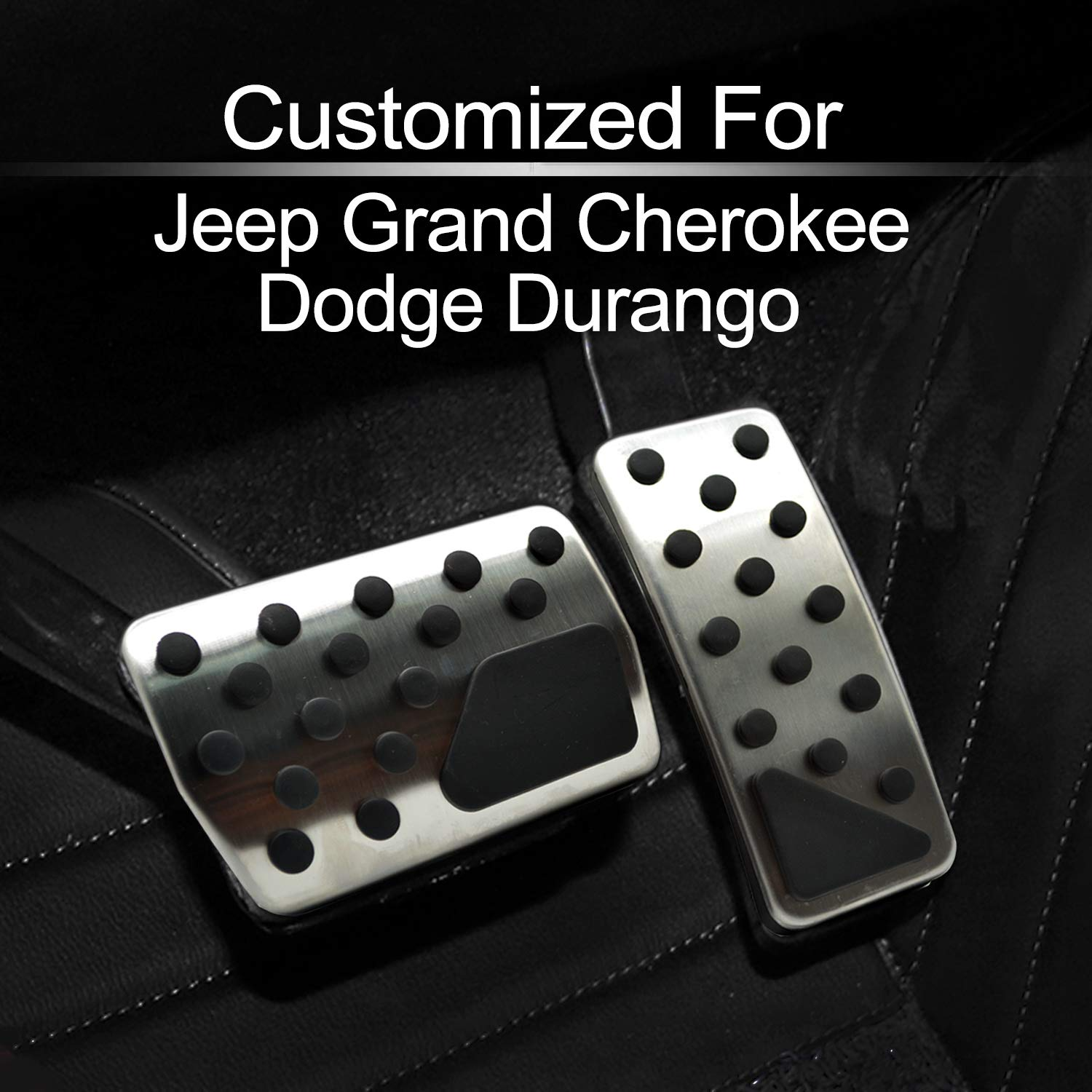 Gas and Brake Pedal Cover Compatible with fit for 2011-2018 Jeep Grand Cherokee Dodge Durango 82212055, by MECHCOS