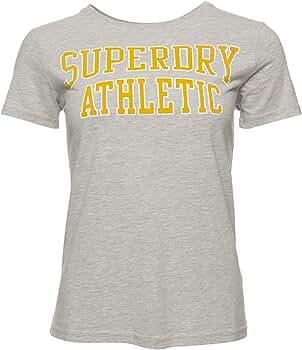 Superdry Mujer Camiseta clásica Varsity Jaspeado Gris 36: Amazon.es: Ropa y accesorios