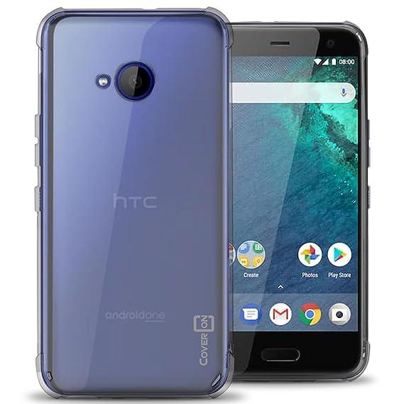 the best attitude ddccc a7f34 HTC U11 Life Case, CoverON FlexGuard Series Slim Fit Premium TPU Phone  Cover with Anti-Slip Grips and Corner Impact Protection (HTC Edge Sense ...