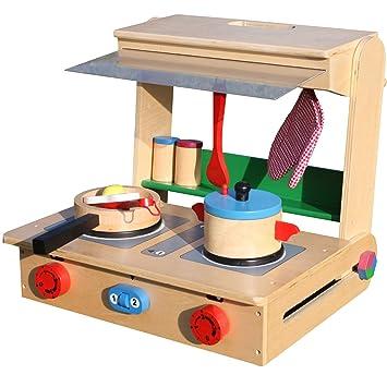 Legler Kinder Spielküche Holz Küche im Koffer Profi: Amazon.de ...