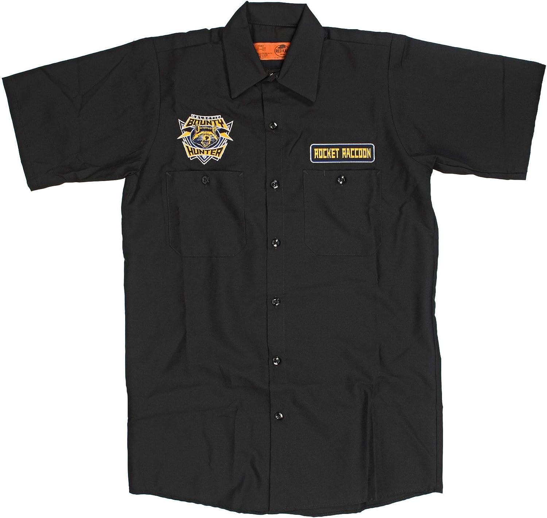Marvel Guardians of The Galaxy Bounty Hunter Camisa Negra de Trabajo para Hombres | L: Amazon.es: Ropa y accesorios