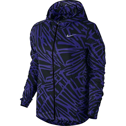 e693205f1c7f Amazon.com  NIKE Womens Printed Lightweight Athletic Jacket  Sports ...