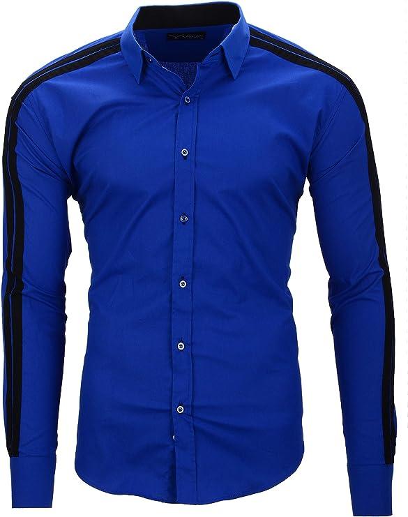 Kayhan Python II Herren Hemd Slim Fit Langarm Hemden Streifen S 6XL