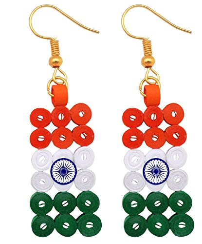 510ce120d Buy Designers Collection Multicolour Non-Precious Metal Paper Quilling Tri  Colour Earrings for Women and Girls Online at Low Prices in India | Amazon  ...