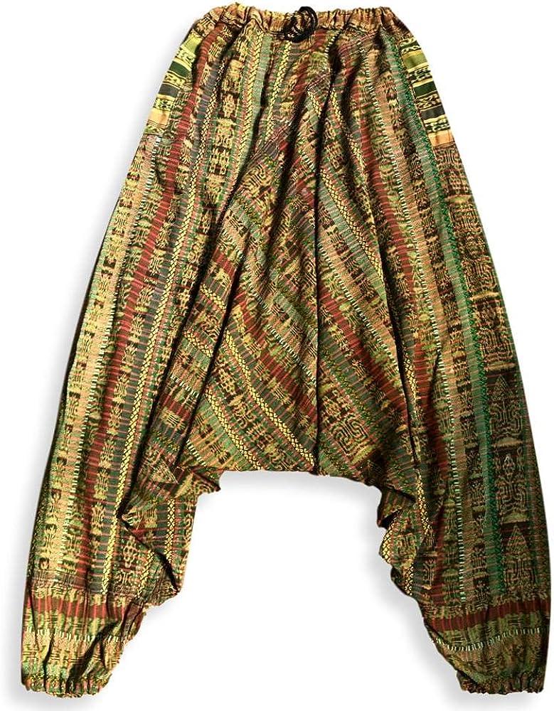 Pantalones Harem Guatemaltecos Gitanos De Comercio Justo Para Hombres Y Mujeres M Clothing Amazon Com