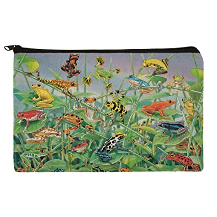 cfc25acf1b97 Amazon.com  Colorful Rainforest Tree Frogs Just Hanging Around Makeup  Cosmetic Bag Organizer Pouch  Graphics   More
