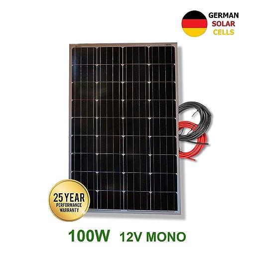 VIASOLAR Panel Solar monocristalino 100W 12V células alemanas ...