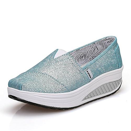 LFEU Mocasines de Lona Mujer, Azul (Azul), 37: Amazon.es: Zapatos y complementos