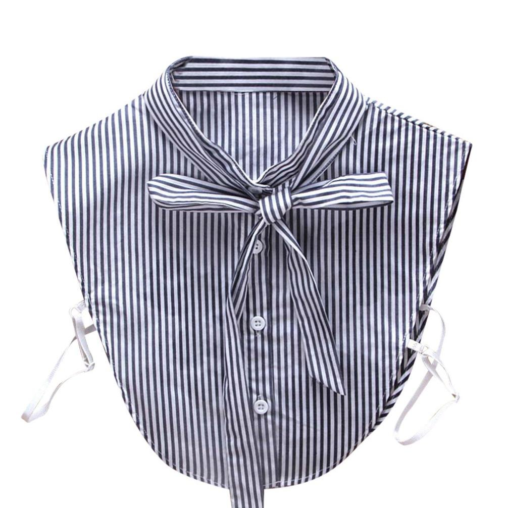 Vovotrade False Collars For Women Adorable Striped Necklace