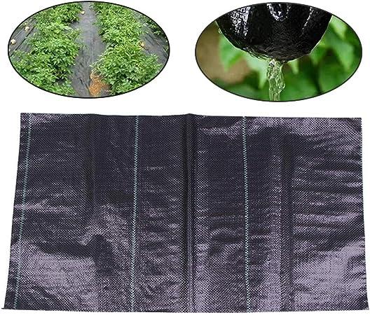 LANGYINH - Tela para barrera de malas hierbas para jardín, 3,5 onzas para el control de la erosión del suelo y estabilizado contra los rayos UV: Amazon.es: Hogar