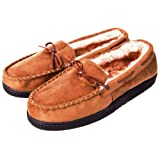Amazon Price History for:Carebey Men's Winter Comfortable Warm Moccasins Slippers With Anti Slip Rubber Sole Loafers Shoes