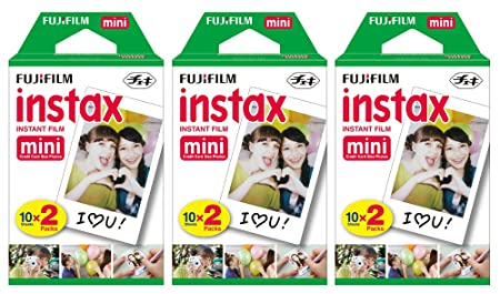 Fujifilm Instax Mini Instant Film (3 Twin packs, 60 Total pictures) for Instax Cameras Film Cameras at amazon